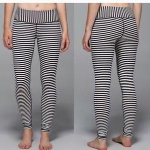 Lululemon wunder under narrow bold stripe leggings